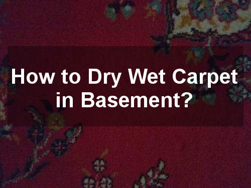 how to dry wet carpet in basement