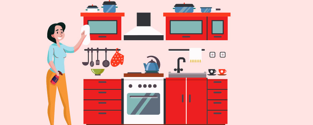 Clean The Kitchen Cabinets With Two Ingredients Only